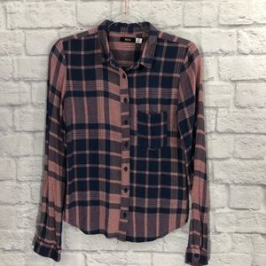 BDG red and navy flannel shirt